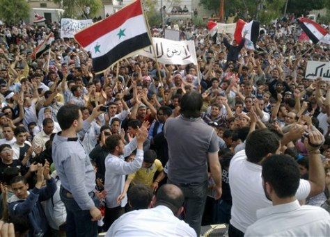 Image: Syrian anti-regime protesters