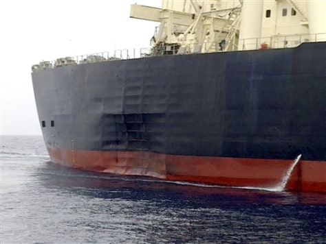 Image: Damaged supertanker