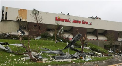 Image: Arena hit by twister