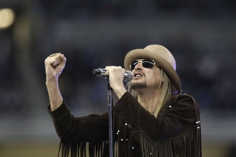 Image: Kid Rock performs at Ford Field in Detroit