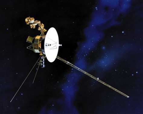 Image: Artist's rendering of Voyager spacecraft