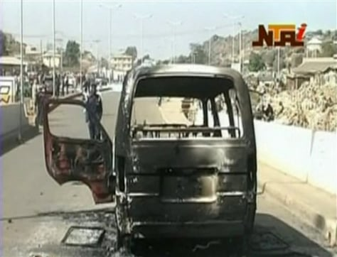 Image: A burned van