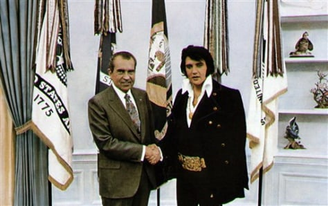 IMAGE: President Nixon and Elvis Presley