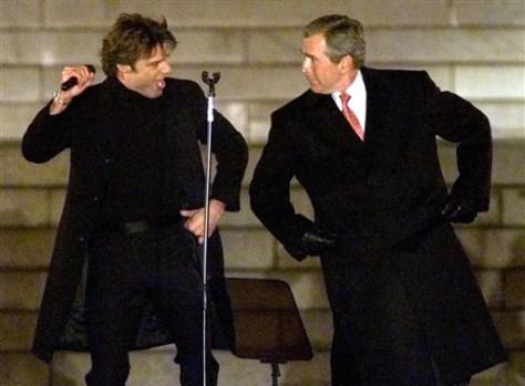 Image: Ricky Martin, George Bush