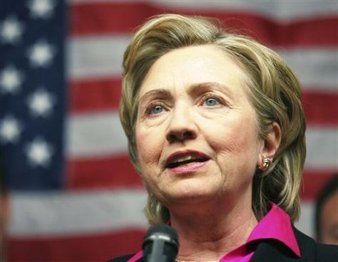 IMAGE: Sen. Hillary Clinton, D-N.Y.