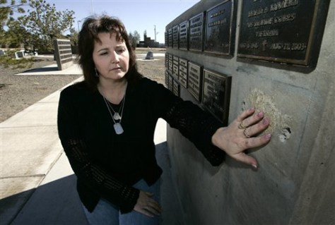 Image: Wife of slain Wiccan soldier
