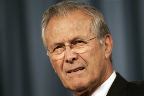 Defense Secretary Donald H. Rumsfeld