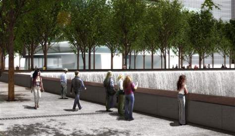 IMAGE: GROUND VIEW OF PROPOSED MEMORIAL