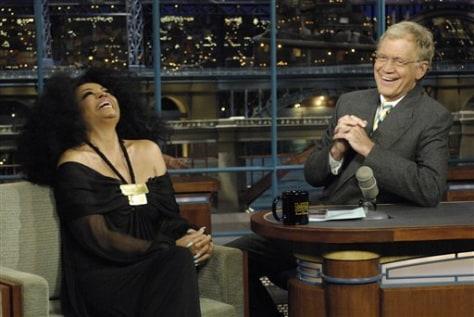 Image: Diana Ross, David Letterman