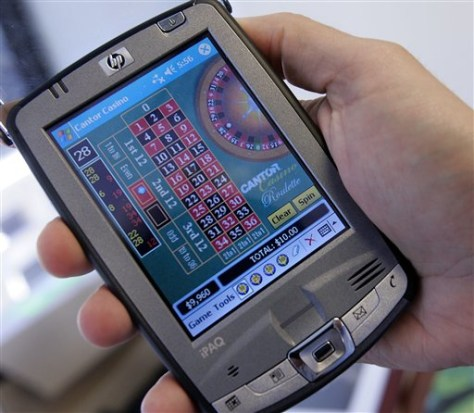 Roulette program on a PDA