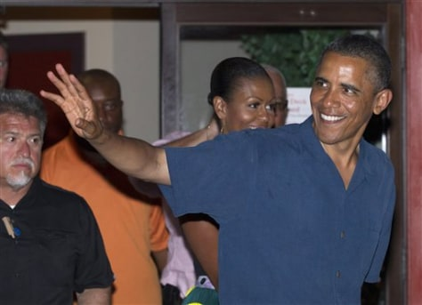 Image: President Obama on vacation