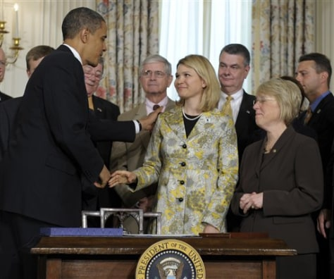 Image: Barack Obama, Sarah Wade, Patty Murray