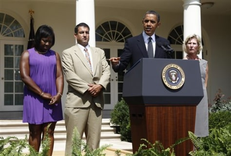 Barack Obama, Denise Gibson, Jim Chukalas, Leslie Macko