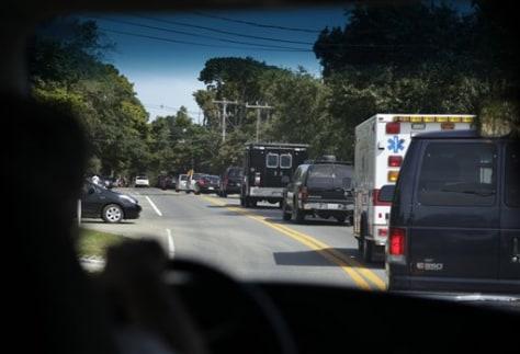 Image: Barack Obama's motorcade