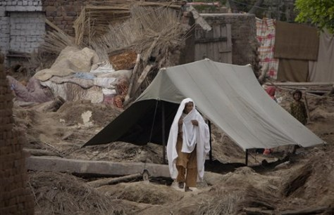 Image: A Pakistani flood survivor