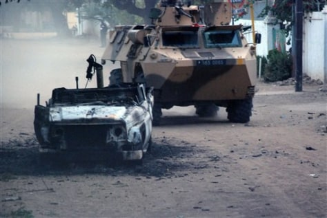 IMAGE: FRENCH ARMY VEHICLE IN CHAD