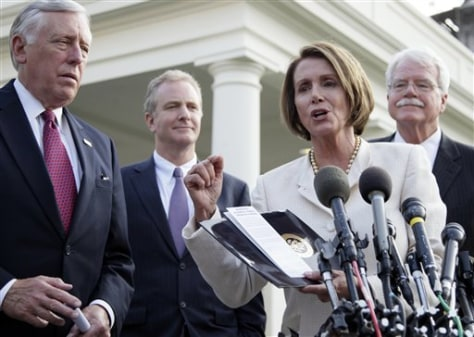 Nancy Pelosi, Steny Hoyer, George Miller, Chris Van Hollen