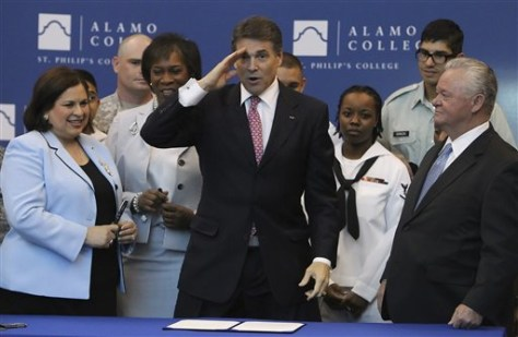 Rick Perry, Leticia Van De Putte, Adena Williams Loston, Ronny Congleton