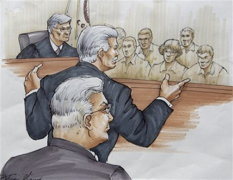 Image: Sketch of jurors