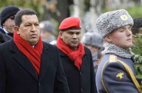 Image: Hugo Chavez in Russia