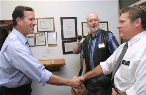 Image: Rick Santorum, Thomas Howard