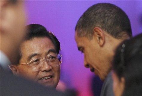Image: Obama, Hu