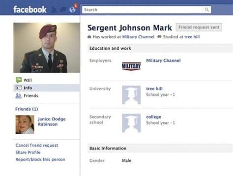 Soldier impersonators target women on Facebook - Technology