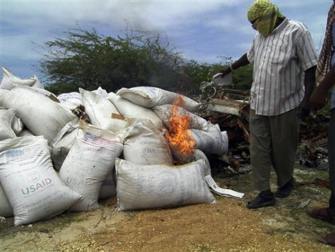 Image: Wheat burning in Somalia