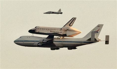 What it's like to fly a plane carrying shuttle ...