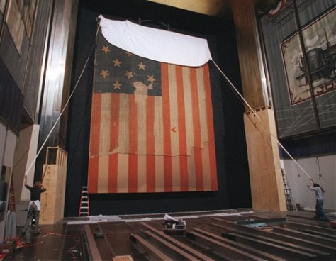 Image: Flag that inspired Star Spangled Banner