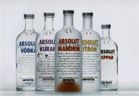 SWEDEN ABSOLUT VODKA