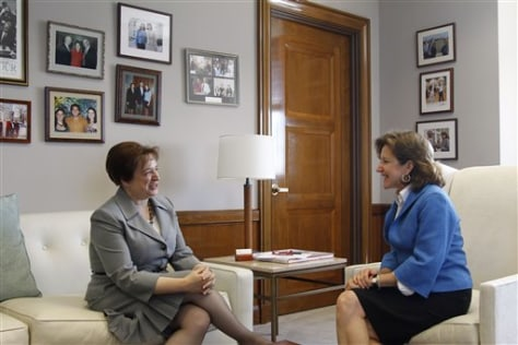 Image: Elena Kagan and Kay Hagan