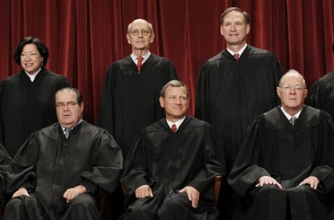 Antonin Scalia, John G. Roberts, Anthony M. Kennedy, Sonia Sotomayor, Stephen Breyer, Smauel Alito Jr.,