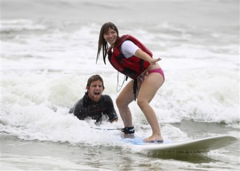 Surfing Lessons for the Disabled