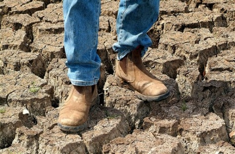 IMAGE: CRACKED SOIL ON AUSSIE FARM