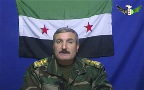 Image: Commander of defectors Riad al-Asaad