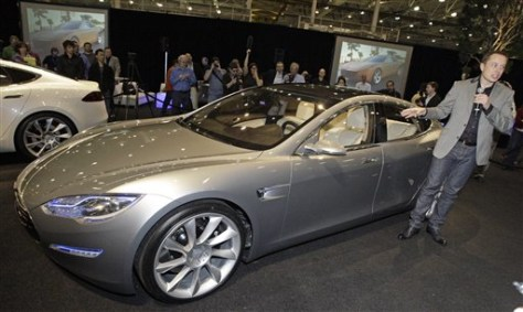 Image: Elon Musk with Model S