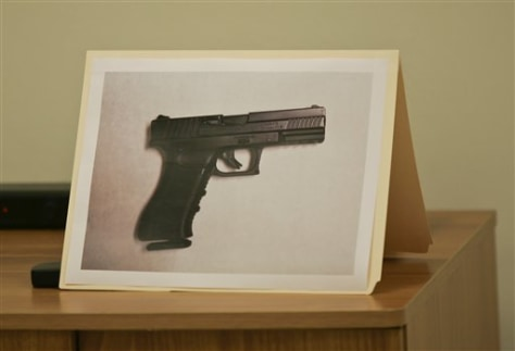 Image: A photo of the carbon dioxide-powered pellet handgun