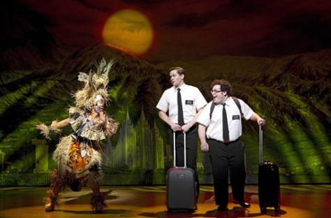 "Image: A scene from ""The Book of Mormon"""
