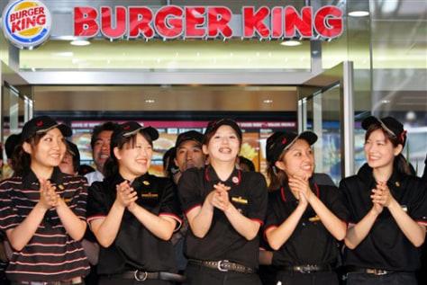 Image: Tokyo Burger King employees