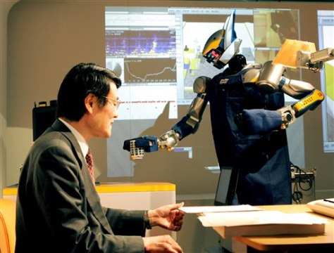 Image: Japan tea serving robot