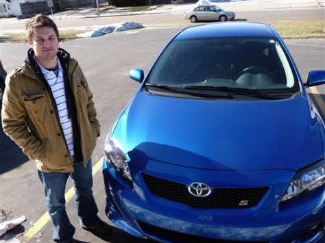 Image: Tony Raasch, owner of a Toyota Corolla