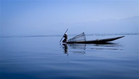 Image: fisherman in Myanmar's Inle Lake