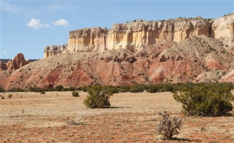 Image: Sandstone cliffs, New Mexico