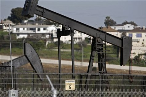 Image: Oil rigs near homes