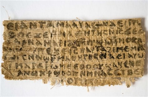 Image: Fragment of papyrus