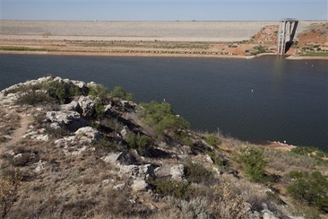 Image: Lake Meredith National Recreation area near, Fritch, Texas