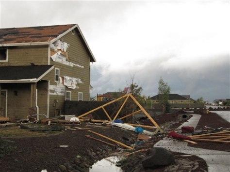 Tornadoes Tear Across Arizona Damage Homes Weather