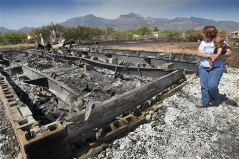 Image: Burned home near Sierra Vista, Ariz.