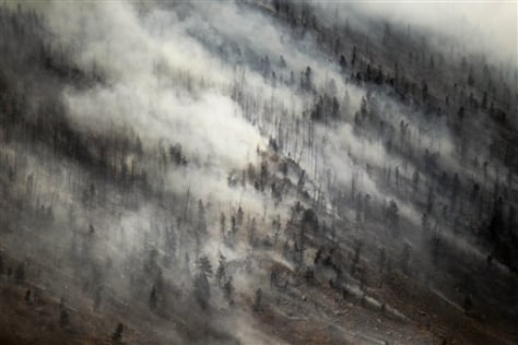 IMage: Wyoming wildfire